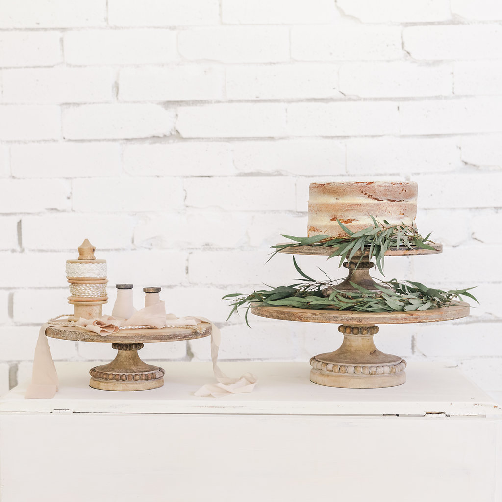 Wood Beaded Cake Stand Makin It Lovely